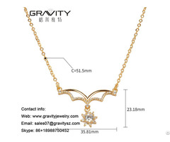 Customize Fashion 18k Gold Color Imitation Jewelry Diamond Necklace