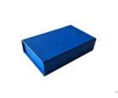 Pure Dark Blue Color Folding Gift Boxes For Clothes Apparel Packaging