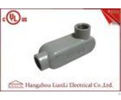 Ul Standard Pvc Coated Aluminum Ll Conduit Body With Screws Gray