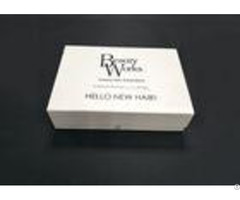 Moisture Proof White Clear Folding Gift Boxes For Hair Extensions Packaging