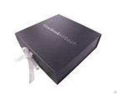 Book Shaped Foldable Cardboard Gift Boxescustom Gold Foil Logo Ornament