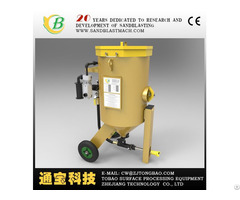 Metal Surface Cleaning Sandblast Machine With Turntable And Cart Dry Suction Sand Blasting Equipment