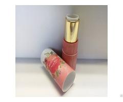 Luxury Design Round Cardboard Push Up Paper Tube For Empty Lipstick Packaging