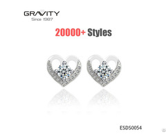 Latest Model Fashion New Style Simple Designs Small Diamond Stud Earrings