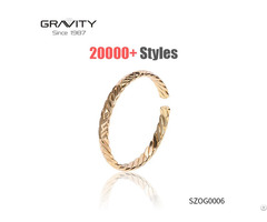 Szog0006 Gravity Custom Simple Open Desgin Plating Gold Jewellery Dubai Bangle