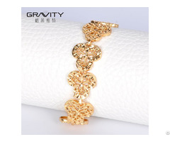 Slog0009 Shenzhen Gravity New Fashion Vogue 18k Wedding Flower Adjustable Bracelet