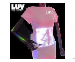 A Programmable Digital Flash Custom Light Up Led T Shirt Display