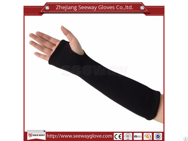 Seeway Sa03 Safety Wrist Protector Aramid Anti Cut Fireproof Sleeve Arm Protection With Thumb Slot