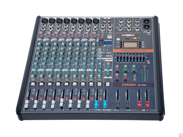 M 1008 8 Channels Professional Mixing Console