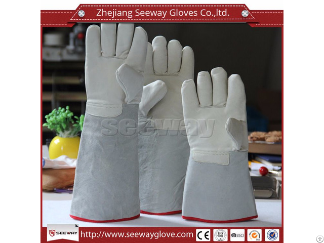 Seeway Cr02 Leather Welding Gloves Cotton Lining For Safety Work