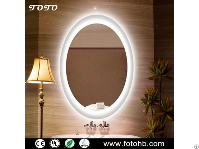Ce Ul Ip44 Waterproof Led Backlit Mirror For Luxury Hotel Bathroom