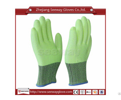 Seeway B508 Green Hhpe Anti Cutting Gloves En388 Class 5 Hand Protection For Industrial Work Safety