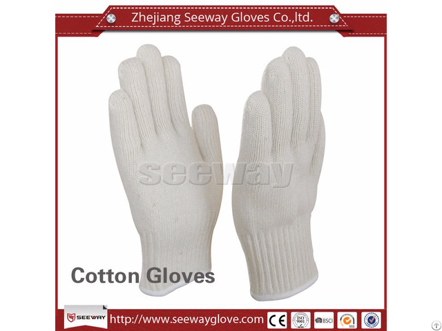 Seeway M300 W 2 Layers Cotton Knitted Kitchen Heat Insulation Gloves For Hot Objects
