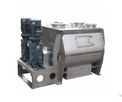 Horizontal Powder Double Shaft Paddle Mixer For Cement Sand Dry Mortar