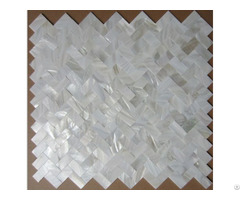 Herringbone Super White Mother Of Pearl Shell Mosaic Tile Bathroom And Kitchen Deco