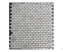 Brick White Mother Of Pearl Shell Mosaic Wall Decoration Ceramic Tile