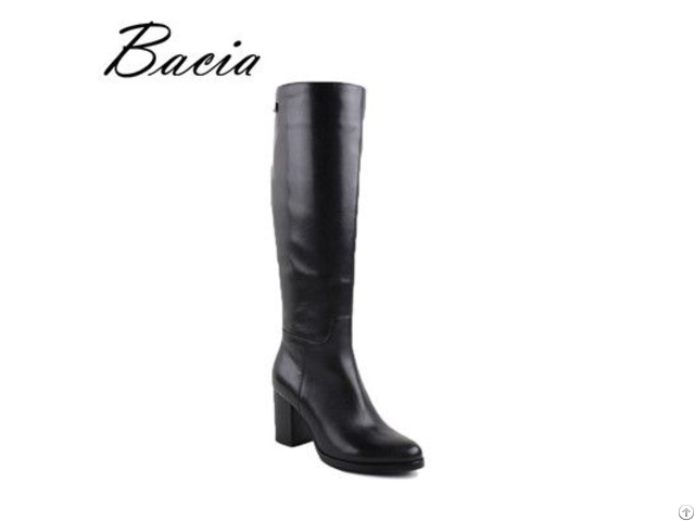 Winter Boots Long Plush Warm Wool Fur Women Leather Shoes