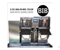 Semi Automatic Double Head Bib Filler Equipment Bag In Box Filling Machine