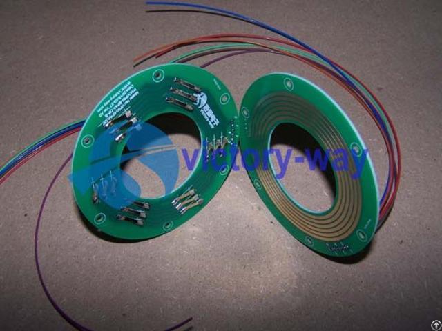 Electric Slip Ring 2 Parts Flat Pcb Through Hole Pancake Type