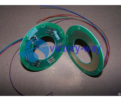 Electric Slip Ring 2 Parts Flat Pcb Through Hole Pancake Type