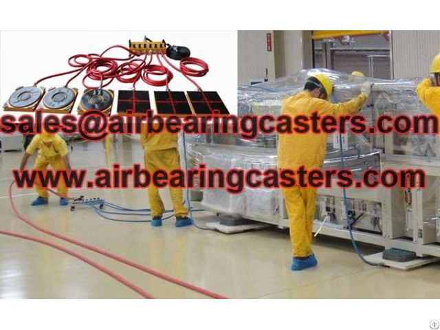 Air Caster Rigging Systems Applied On Moving And Handling Works