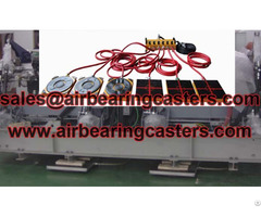 Air Bearing Casters Applicationstransporting Machines