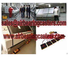 Air Moving Skates Modular Aircraft Transporters