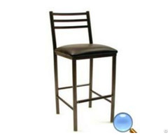Environmental Metal Round Steel Tube Bar Chair Stool With Sponge