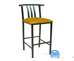 Environmental Standard Metal Frame Square Steel Tube Bar Stool With Sponge