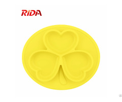 Kids Feeding Bowl Cute Design Silicone Baby Plate