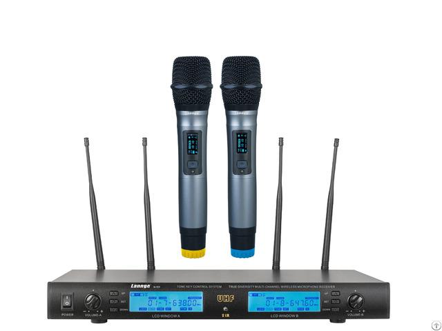 W 500 Uhf True Diversity Tone Key Wireless Handheld Microphones