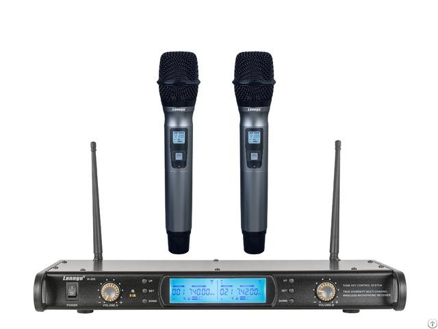W 300 Uhf True Diversity Tone Key Wireless Handheld Microphones