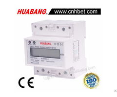 Four Modular Single Phase Din Rail Energy Meter