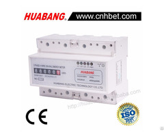 Three Phase 4 Wire Register Display Din Rail Kwh Meter
