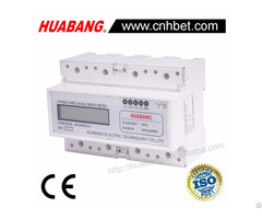 Three Phase 4 Wire Lcd Display Din Rail Energy Meter