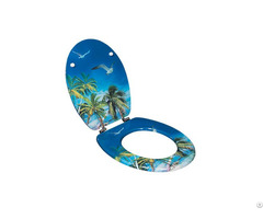 Decorative Soft Close Printed Mdf Toilet Seat Dw 31