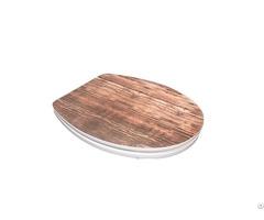 Sanitary Ware Bathroom Pp Thick Round Slim Design Mdf Toilet Seat Dw 021