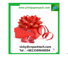 Delicate Present Designed Christmas Gift Packing Paper Cake Box With Bowknot For Kids