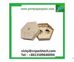 Custom Retro Style Hexagon Earrings Box With Inner Tray Tea Food Packaging