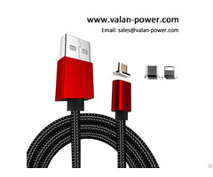 Magnetic Nylon 3 In 1 Usb Charging Cable