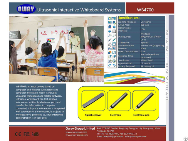 Easy Installation And Maintenance Smart Board Interactive Whiteboard With Lcd Touch Screen