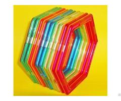 Rainbow Color Plastic Safe Magnetic Building Block Toys