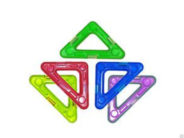 Triangle Plastic Safe Magnetic Building Block Toys