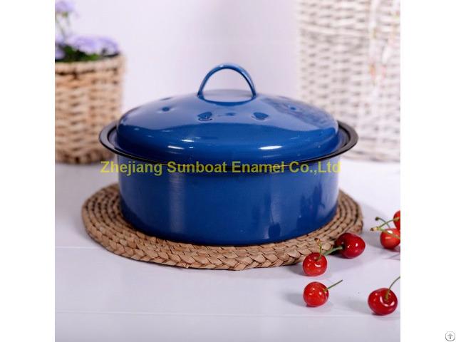 Cast Iron Enamel Stock Pot