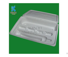 Customized 100% Biodegradable Sugarcane Bagasse Molded Paper Pulp Packaging Trays