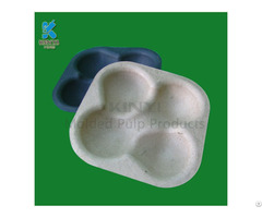 Eco Friendly Biodegradable Bamboo Pulp Fruit Holder Packaging