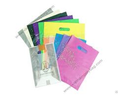Punch Out Handle Die Cut Plastic Bag