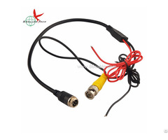 4pin Aviation Gx M12 To Bnc Male And Dc Red Black Wire Video Cables For Backup Camera System