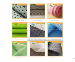 3d Air Mesh Fabric With Holes And Different Colors