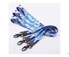 Custom Woven Logo Polyester Lanyards With Badge Id Card Holder